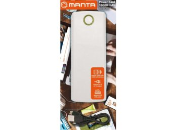 Manta POWER BANK MPB005W 10000 MAH BIAŁY