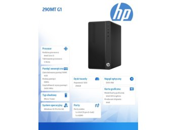 HP Inc. 290MT G1 i3-7100 256/4G/DVD/W10P  1QN78EA