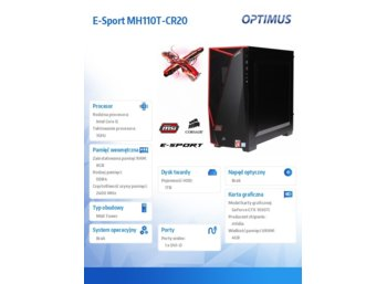 OPTIMUS E-Sport MH110T-CR20 i5-7400/8GB/1TB/GTX1050 Ti