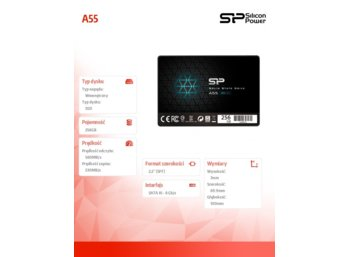 Silicon Power SSD A55 256GB SATA3 550/450MB/s