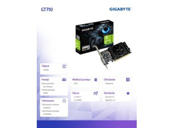 Gigabyte GT710 2GB DDR5 64BIT DVI/HDMI/Low Profile