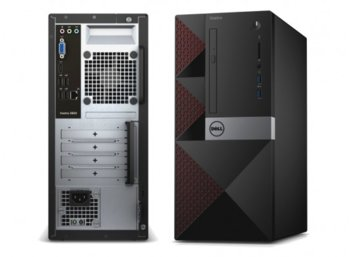 Dell Vostro 3668MT Win10Pro i5-7400/1TB/4GBDVDRW/Integrated/MS116/KB216/3Y NBD