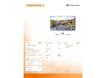 LG Electronics 27'' 27MP89HM-S IPS FullHD 5ms