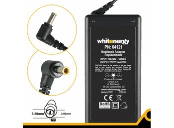 Whitenergy Zasilacz 19V 4.22A 80W 5.5x3.0mm + pin